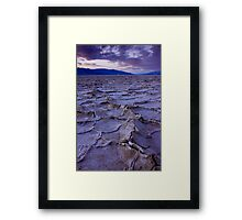 Salted Sunset   Badwater, Death Valley Framed Print