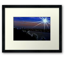 City of Levi  / View from Quebec City                     * View larger is best  !  Framed Print