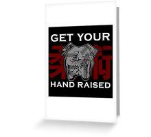 """Get Your Hand Raised"" - Jiu Jitsu Bulldog Greeting Card"