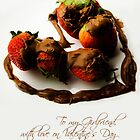 Chocolate Strawberry Valentine's Card - Girlfriend by -raggle-