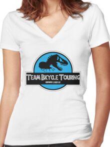 Dino-miiiiiite Women's Fitted V-Neck T-Shirt