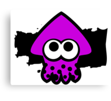 Splatoon Squid (Purple) Canvas Print