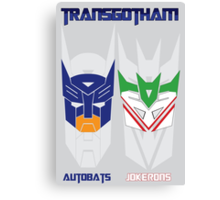 Batman and Transformers - TransGotham Canvas Print