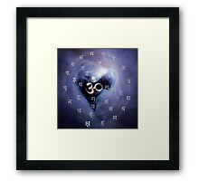 OM, absolute source and vibration of the universe Framed Print