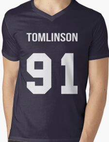Louis Tomlinson - College Style [White] Mens V-Neck T-Shirt