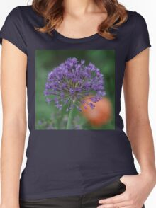 Purple Sun Burst! Women's Fitted Scoop T-Shirt