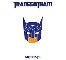 Batman and Transformers - Autobats Photographic Print