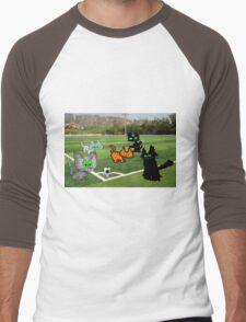 Cats Play Soccer Men's Baseball ¾ T-Shirt