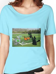 Cats Play Soccer Women's Relaxed Fit T-Shirt