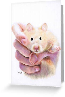 Hamster Hug by Karen  Hull