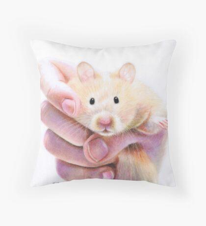 Hamster Hug Throw Pillow