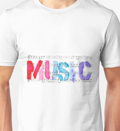 purple MUSIC Unisex T-Shirt