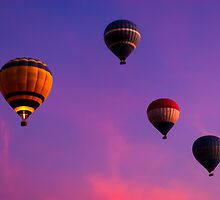 Carefree - Hot Air Balloons in Egyptian Skies by Mark Tisdale