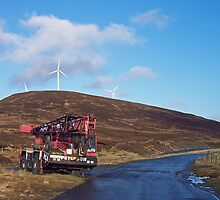 Derelict Crane on road to Scalloway by Twscats