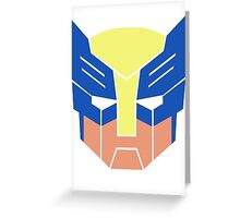 Wolverine Transformers Retro Style Greeting Card