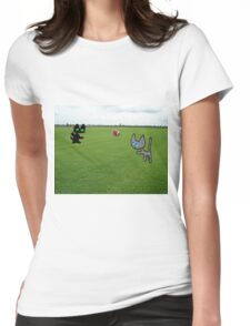 Cats Practice Football Womens Fitted T-Shirt