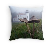 Mushrooms and Lighthouse Seven Throw Pillow