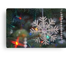 Stary Snow Flake. Canvas Print