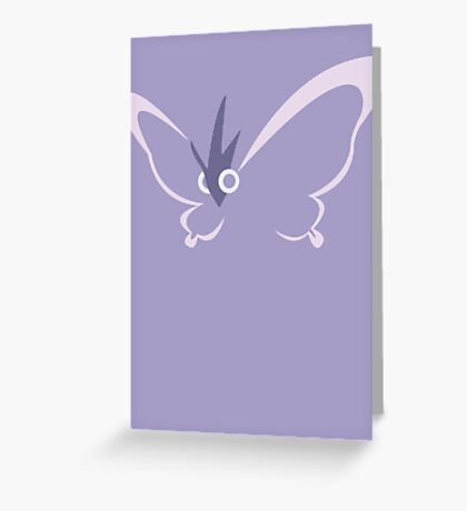 Venomoth Greeting Card