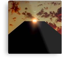 2001: A Space Odyssey - Earth Monolith Metal Print