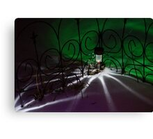 Spider Light in the Snow? Canvas Print