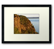 Red Rocks at Nipigon Bay Framed Print