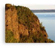 Red Rocks at Nipigon Bay Canvas Print