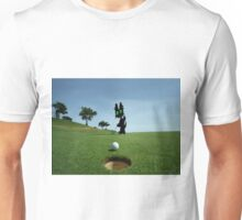 Cat Sinks A Putt Unisex T-Shirt