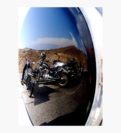 MIRRORED MOTORCYCLES  Photographic Print