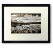 Abstract Wavy Reflections Framed Print