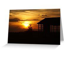 Sunset & Wood Greeting Card