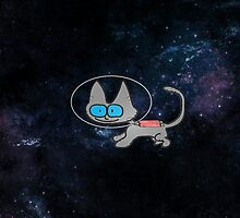 Blue Eyed Cat In Space by JohnsCatzz
