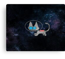 Blue Eyed Cat In Space Canvas Print