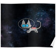 Blue Eyed Cat In Space Poster