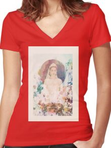 Reign- Mary Women's Fitted V-Neck T-Shirt