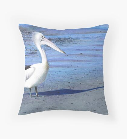 Fishing at Greenwell Point Throw Pillow