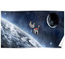 Jet Pack Astronaut Cat Poster