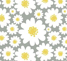 White Daisies Pattern by Lilalove