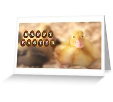 Happy Easter Greetings from Cute Duckling Greeting Card