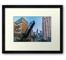 Kinzie Street Bridge Framed Print