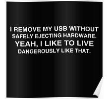 Living Dangerously: USB Poster