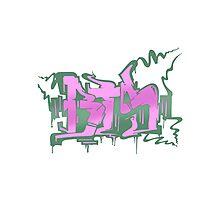 BTS Boy in Luv Graffiti Photographic Print