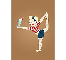 Pin Up Yoga Photographic Print