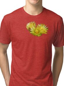 Golden Barrel Cactus Flower Tri-blend T-Shirt