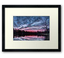 Dramatic Sunset Pond Framed Print