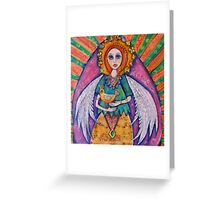 Guardian Angel with her Bird Greeting Card