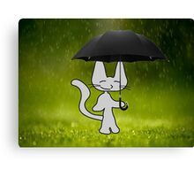 Cat In The Rain Canvas Print