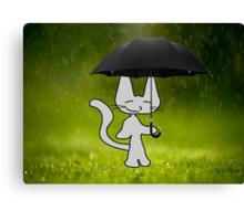 Cat In The Rain Canvas Print