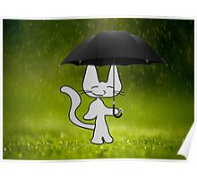 Cat In The Rain Poster