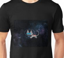 Blue Eyed Cat In Space Unisex T-Shirt